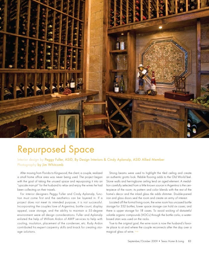 Repurposed Space Interior design by Peggy Fuller, ASID, By Design Interiors & Cindy Aplanalp, ASID Allied Member Photograp...