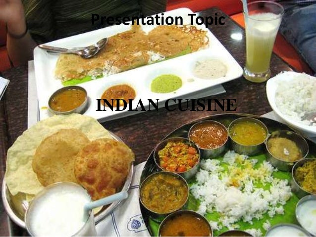 indian cuisine presentation