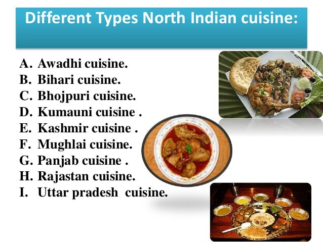 Presentation on indian cuisine for Cuisine names