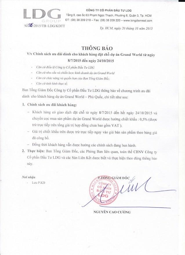 """""""   = . CÔNG TY CỔ PHÂN ÐẦU TƯ LDG  Ẹ  ` ' """" Tầng 8, Cao ỐC 63 Phạm Ngọc Thạch, Phường 6, Quận 3, Tp. HCM P ;` br ÐT: (08)..."""