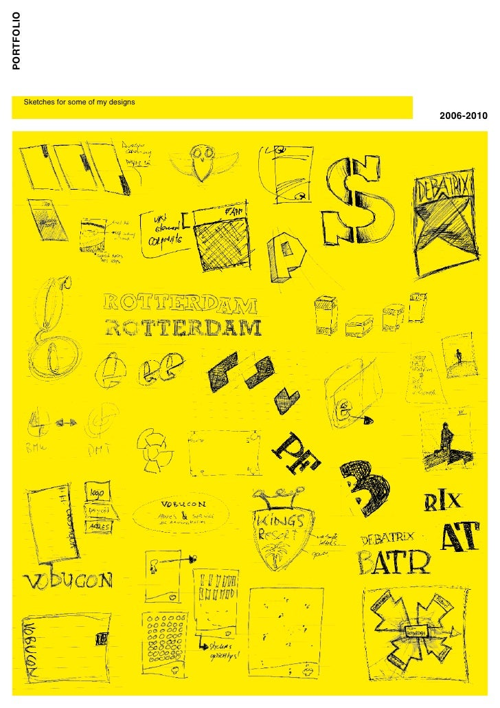 portfolio             Sketches for some of my designs                                           2006-2010