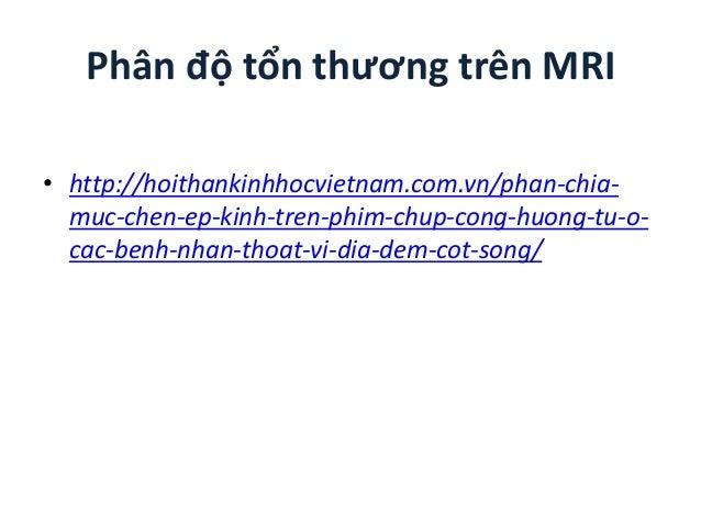 Phân độ tổn thương trên MRI • http://hoithankinhhocvietnam.com.vn/phan-chia- muc-chen-ep-kinh-tren-phim-chup-cong-huong-tu...