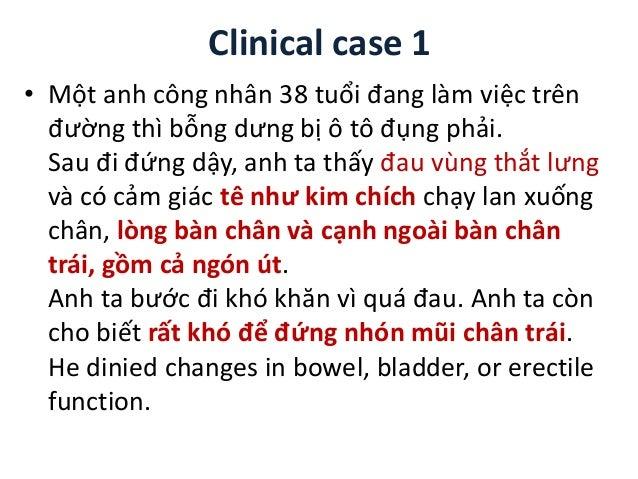 Clinical case 1 • Một anh công nhân 38 tuổi đang làm việc trên đường thì bỗng dưng bị ô tô đụng phải. Sau đi đứng dậy, anh...