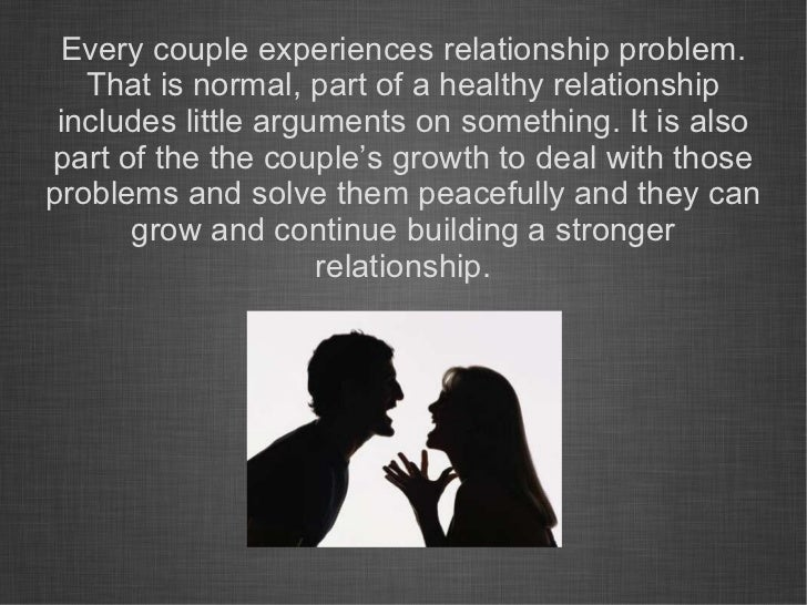 How to solve relationship issues
