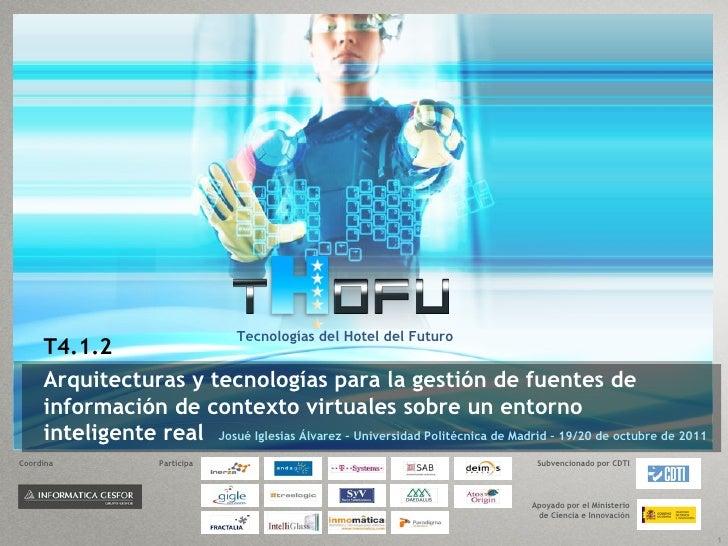 Tecnologías del Hotel del Futuro     T4.1.2     Arquitecturas y tecnologías para la gestión de fuentes de     información ...