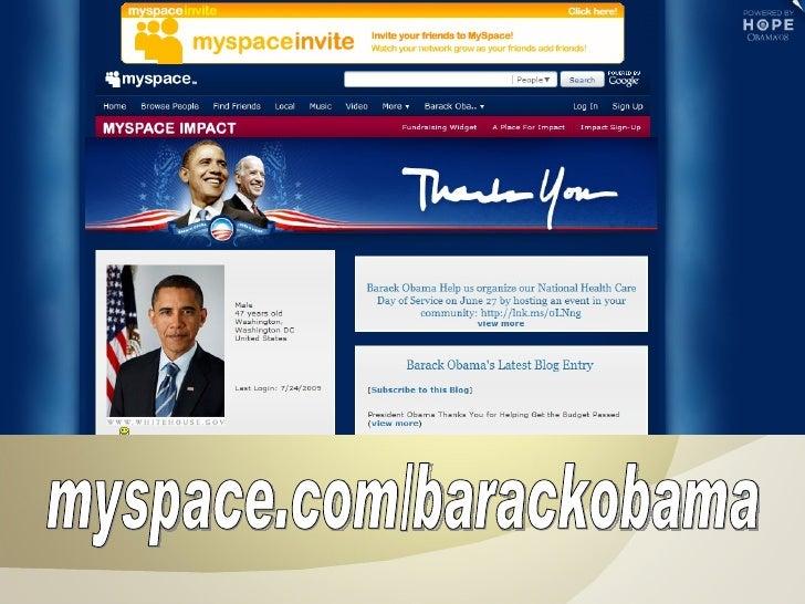 myspace.com/barackobama