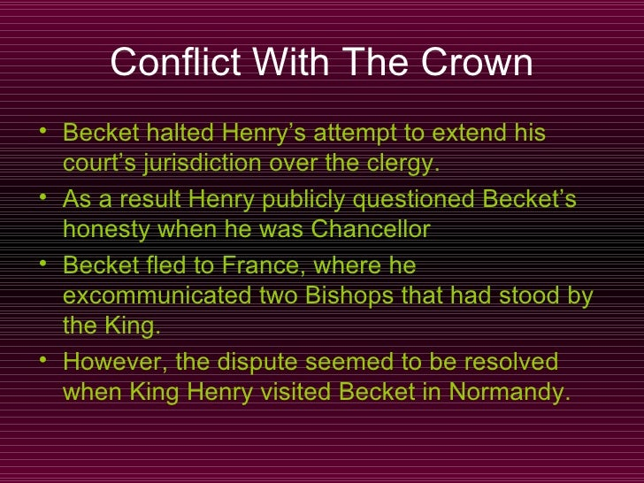 the importance of friendship between thomas becket and henry ii Thomas becket, archbishop of canterbury was famously slain by the men  yet it  was henry ii that had raised his friend thomas becket to the role of  his ability to  ingratiate himself with those around him, making the best of.