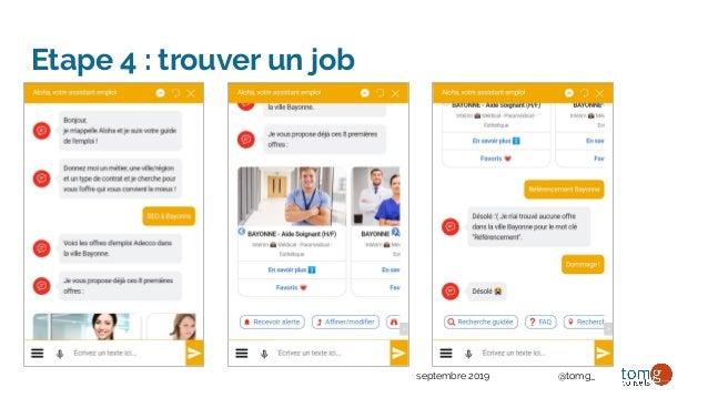 septembre 2019 @tomg_ Etape 4 : trouver un job