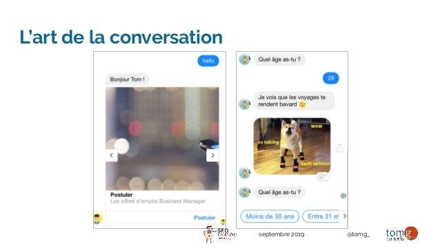 septembre 2019 @tomg_ L'art de la conversation