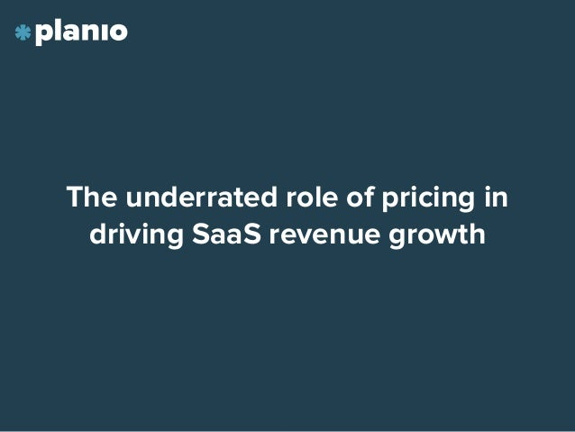 The underrated role of pricing in driving SaaS revenue growth