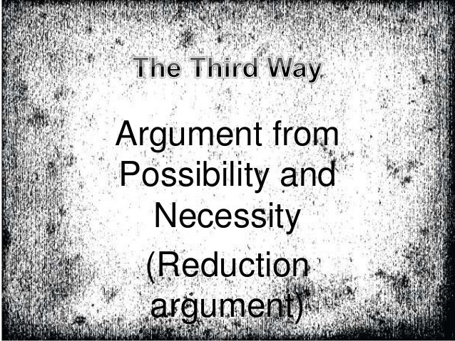 aquinas fifth way of proving essay St thomas aquinas is most famous for his five ways he regarded that the  ontological argument as invalid we cannot prove that god exists,.
