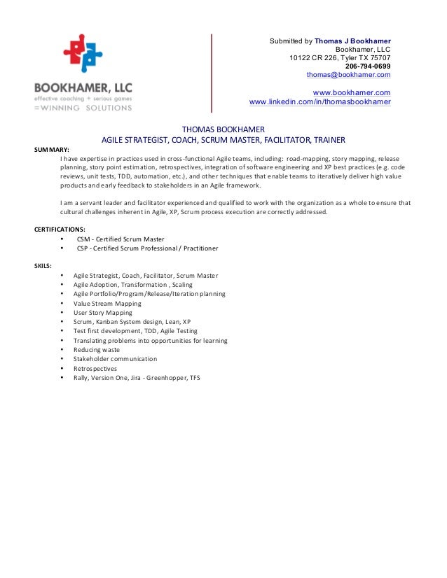 thomas bookhamer resume