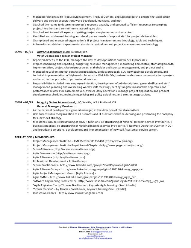 4 - Product Owner Resume