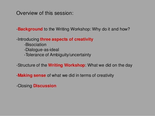 Creativity In Collaboration Across Disciplines Writing