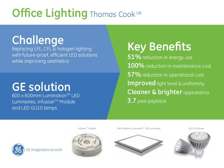 Thomas Cook lighting project by GE Lighting