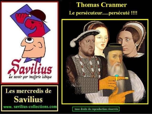 Thomas Cranmer le persécuteur persécuté