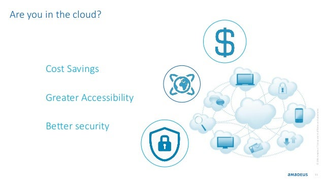 11 Cost Savings Greater Accessibility Better security ©2016AmadeusITGroupanditsaffiliatesandsubsidiaries Are you in the cl...