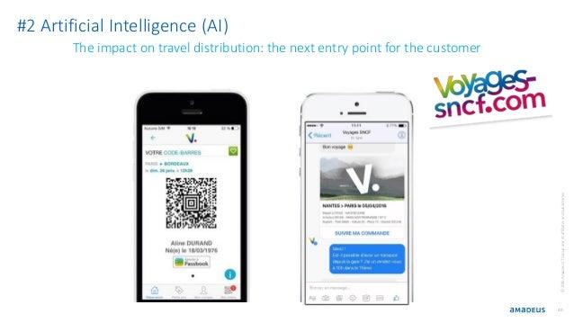 20 ©2016AmadeusITGroupanditsaffiliatesandsubsidiaries #2 Artificial Intelligence (AI) The impact on travel distribution: t...