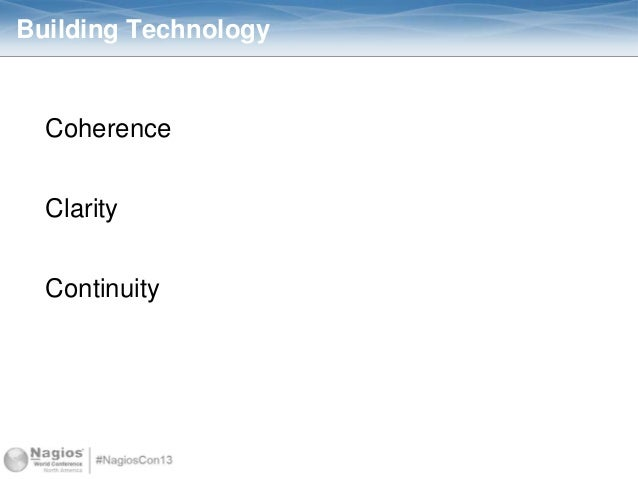 Building Technology Coherence Clarity Continuity