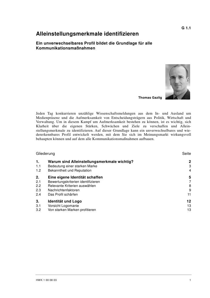 Thomas Gazlig: Alleinstellungsmerkmale identifizieren