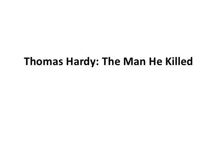 the man he killed thomas hardy