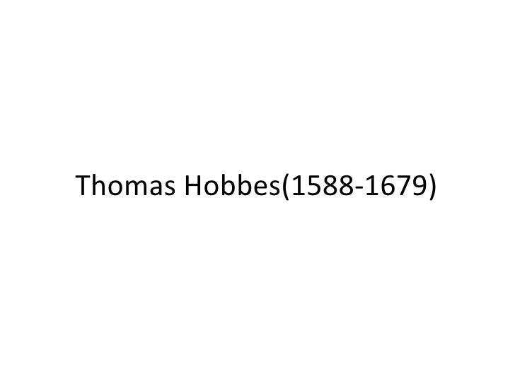 Thomas Hobbes(1588-1679)