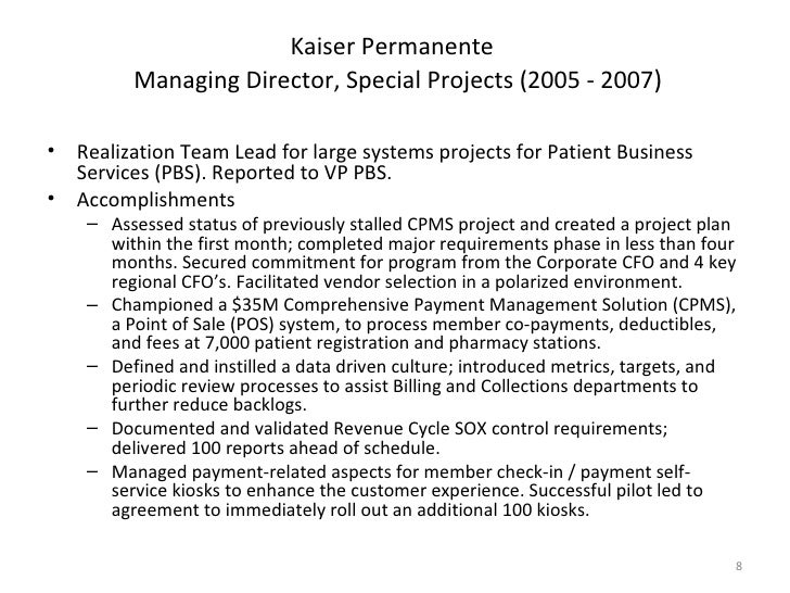 Best Kaiser Permanente Resume Format Photos - Simple resume Office .