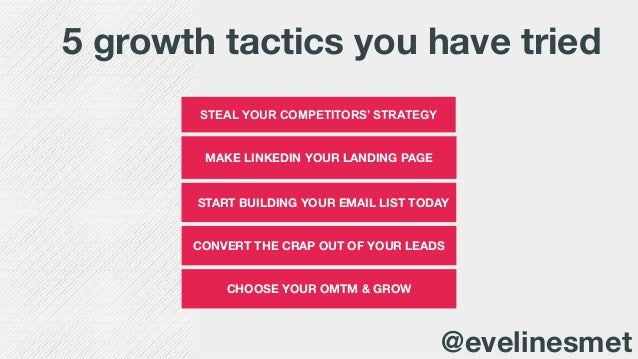 Growth hacking: 5 growth tactics that you can try right now!