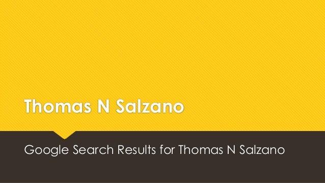 Thomas N Salzano Google Search Results for Thomas N Salzano