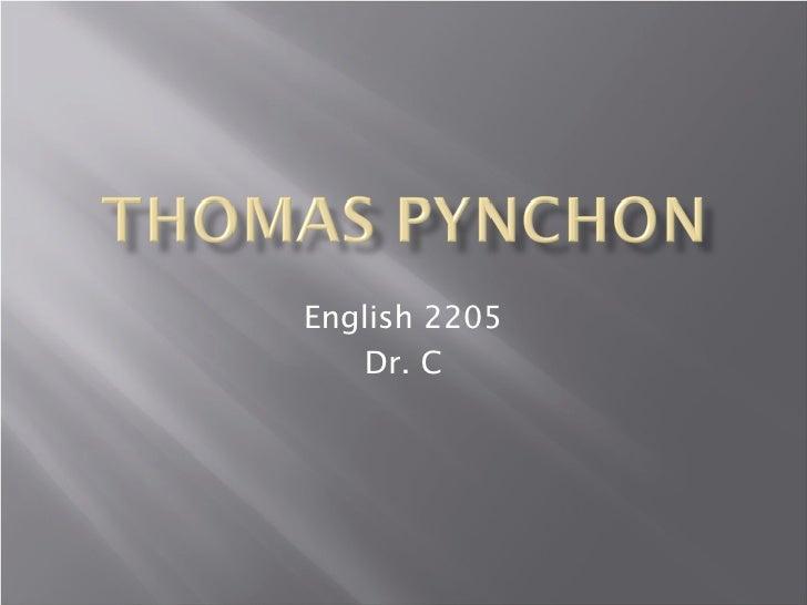 English 2205    Dr. C