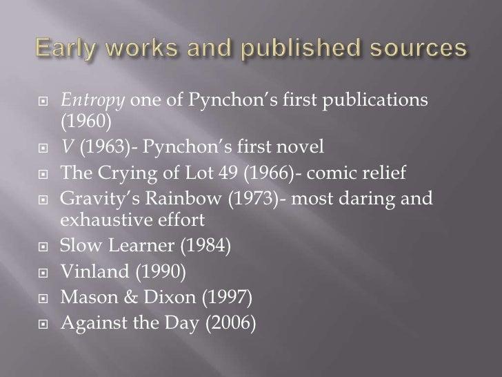 Pynchons entropy
