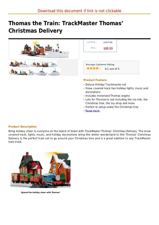 Download this document if link is not clickableThomas the Train: TrackMaster Thomas'Christmas Delivery                    ...