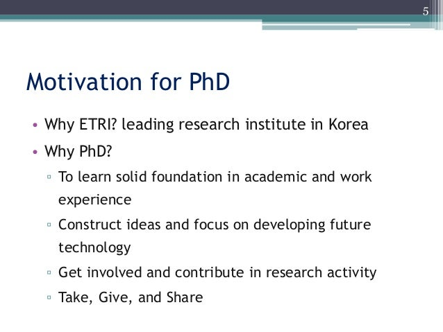 Presentation for phd interview
