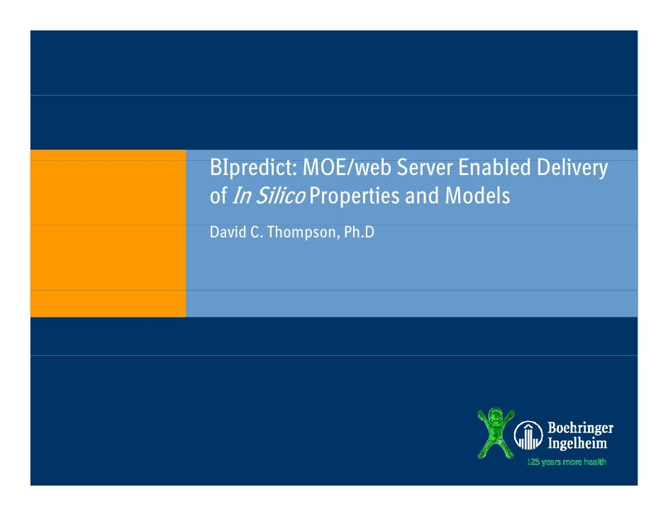 BIpredict: MOE/web SBI di MOE/ b Server Enabled D li                             E bl d Deliveryof In Silico Properties an...