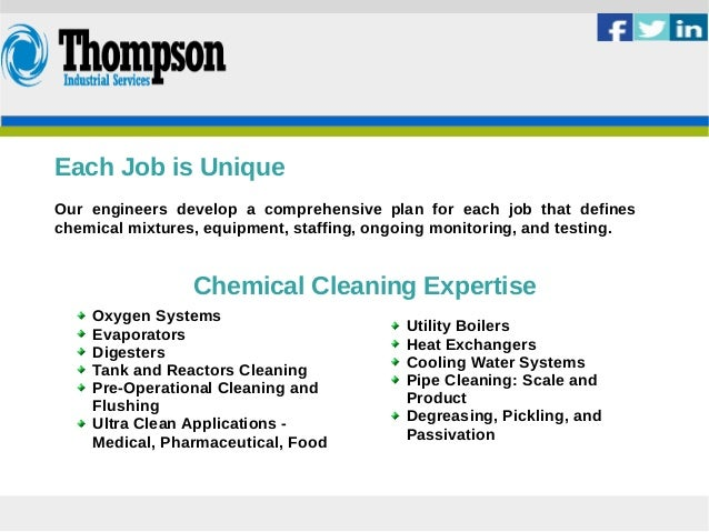 Chemical Cleaning Services : Thompsonindustrial chemical cleaning services