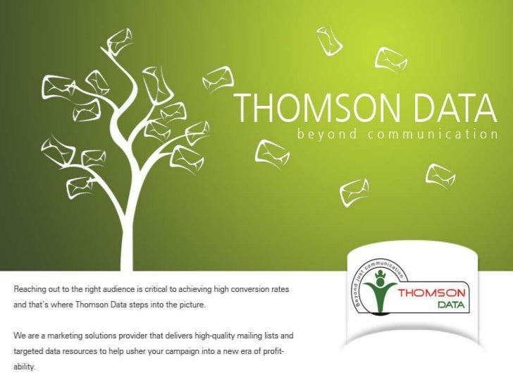 Marketing solution provider - Thomson Data