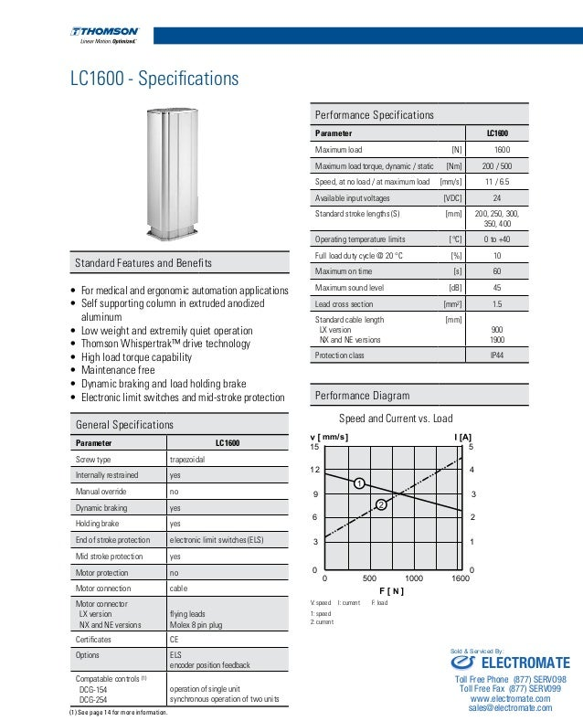 Thomson lifting columns_catalog