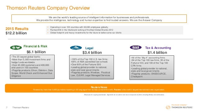Thomson Reuters company overview