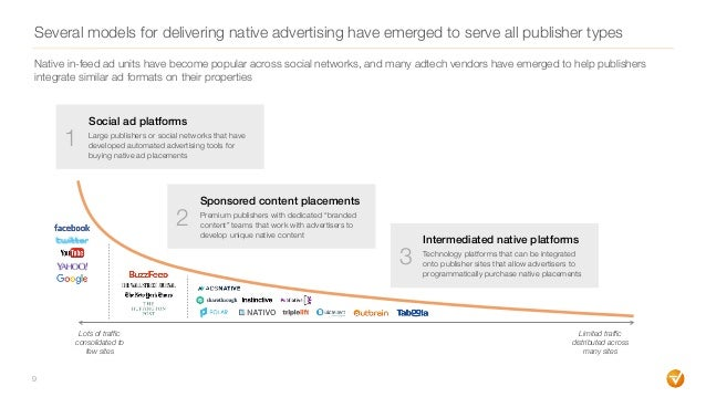 Several models for delivering native advertising have emerged to serve all publisher types 9 Lots of traffic consolidated ...