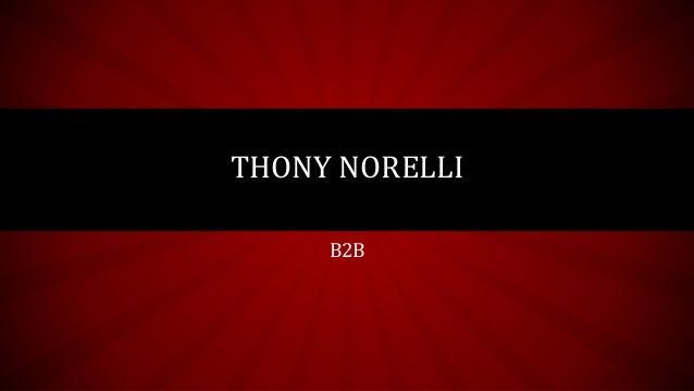 THONY NORELLI B2B
