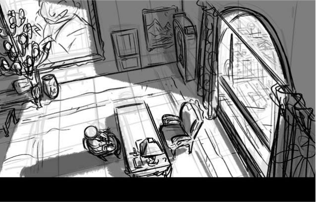 """""""Buxom Blackmail"""" Pilot Excerpt - Storyboard"""