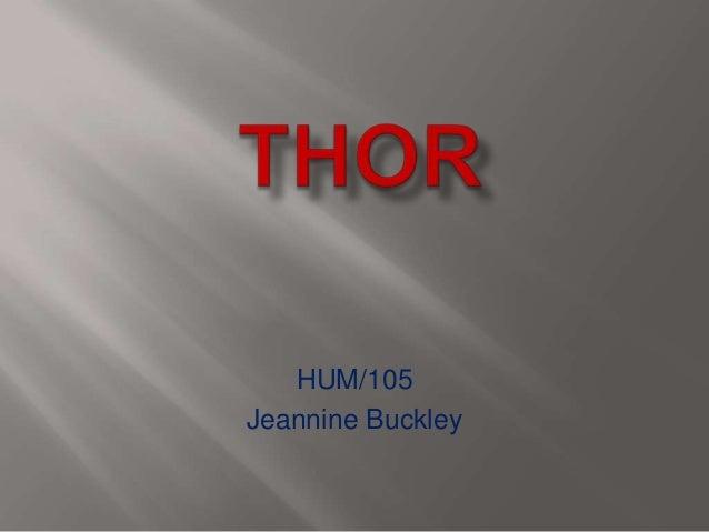 HUM/105 Jeannine Buckley