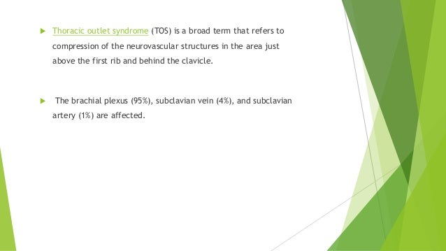 Thoracic outlet syndrome Slide 2
