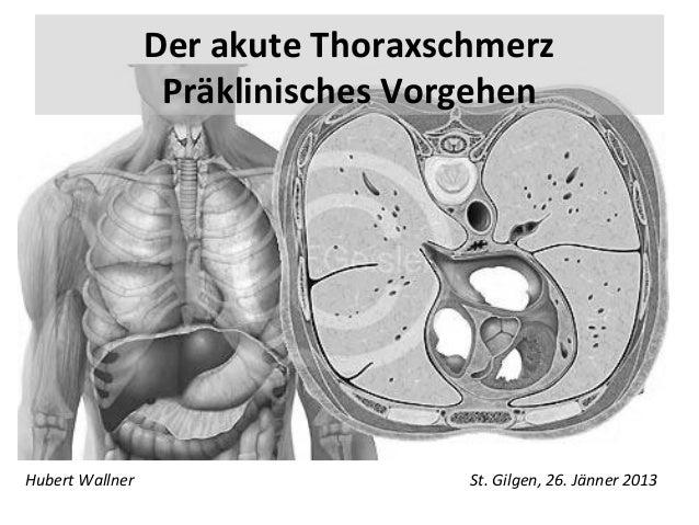 Der akute Thoraxschmerz                  Präklinisches VorgehenHubert Wallner                     St. Gilgen, 26. Jänner 2...
