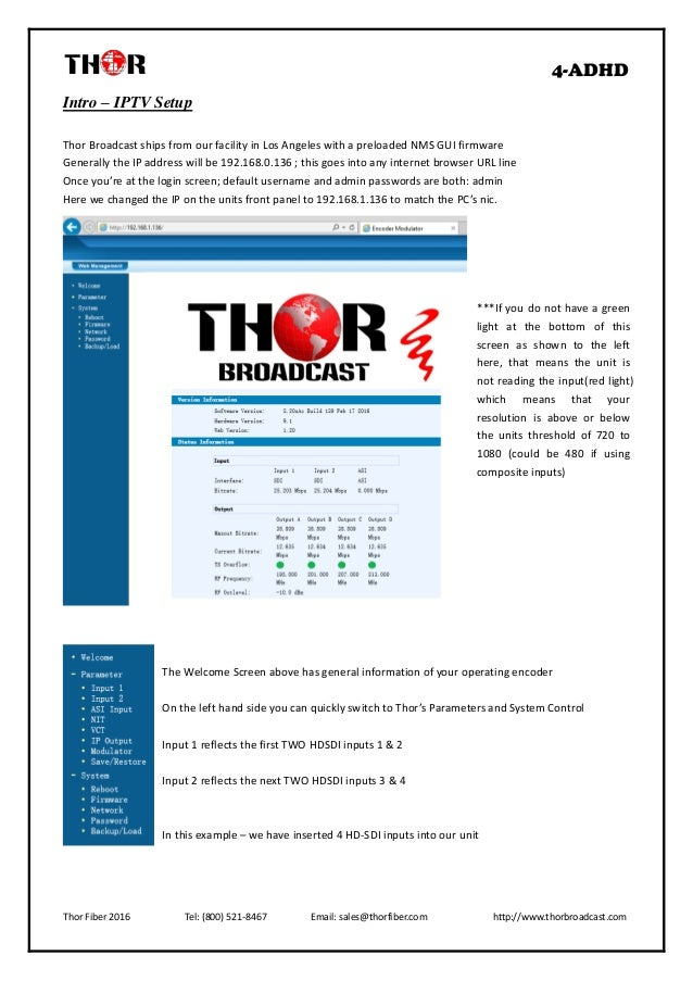 Thor broadcast h 4 adhd user manual 47 publicscrutiny Gallery