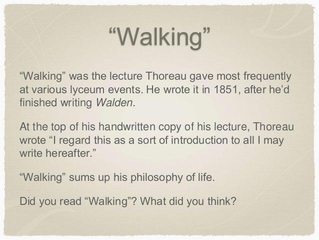 thoreau essay on walking
