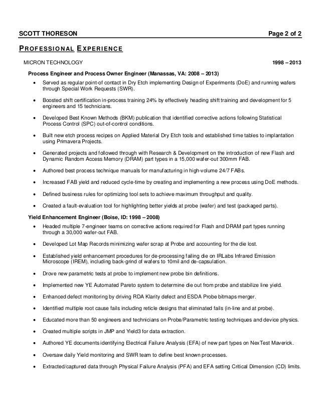 failure analysis resume