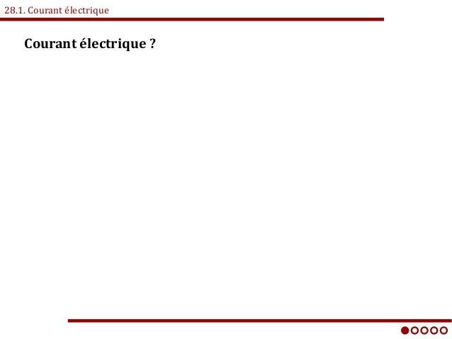 28.1. Courant électrique Courant électrique?
