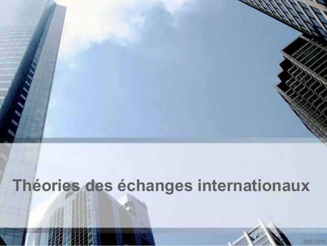 Théories des échanges internationaux