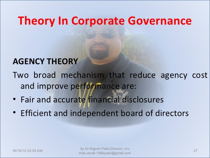 corporate governance and theories Corporate governance theories - free download as pdf file (pdf), text file (txt) or read online for free.